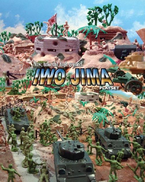 Iwo Jima Playset  --- 175 pieces --- (s&H $55) <FONT COLOR=#CC0000>(54mm) </FONT>