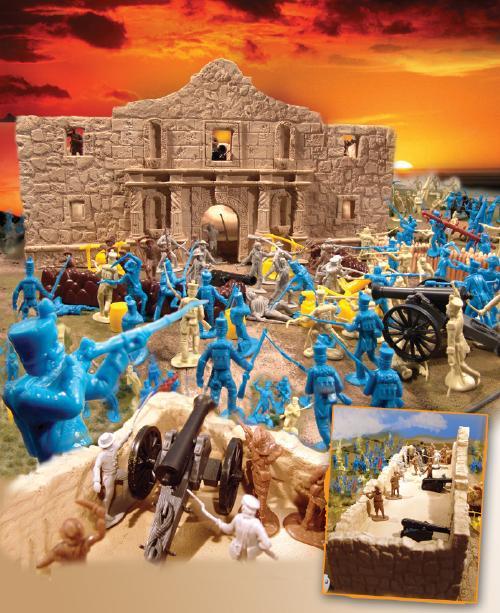 Legend of the Alamo Playset --- 110 pieces --- (s&h $30) <FONT COLOR=#CC0000>(54mm) </FONT>