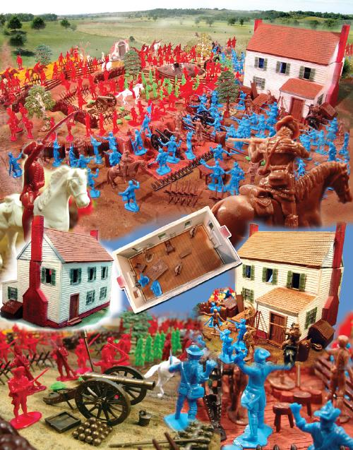 Battle of Yorktown Playset -- 300 pieces --- (Shipping $35 This is a two box set) <FONT COLOR=#CC0000>(54mm) </FONT>
