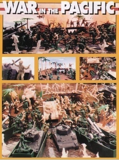 War in the Pacific Playset---200 pieces---(s&h $35) <font color=#CC0000>(54mm) </FONT>