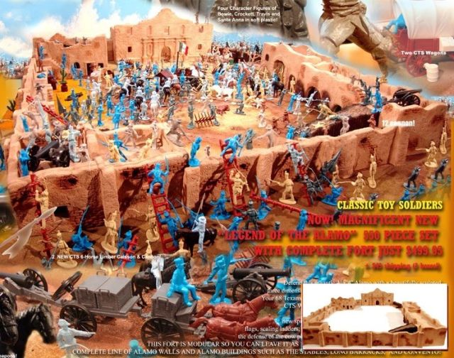 Giant Legend of the Alamo Playset- 500 pieces --- (s&h $85 over sized shipping required) <FONT COLOR=#CC0000>(54mm) </FONT>
