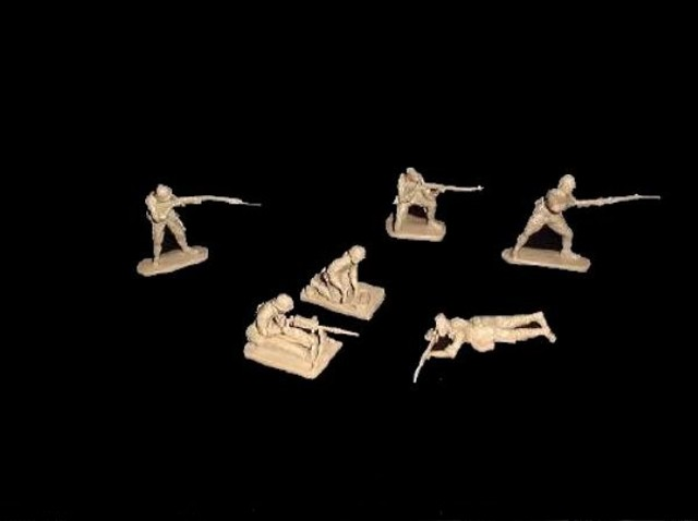 Japanese 12 figures in 6 poses (tan)  <font color=#CC0000>(54mm) </FONT>