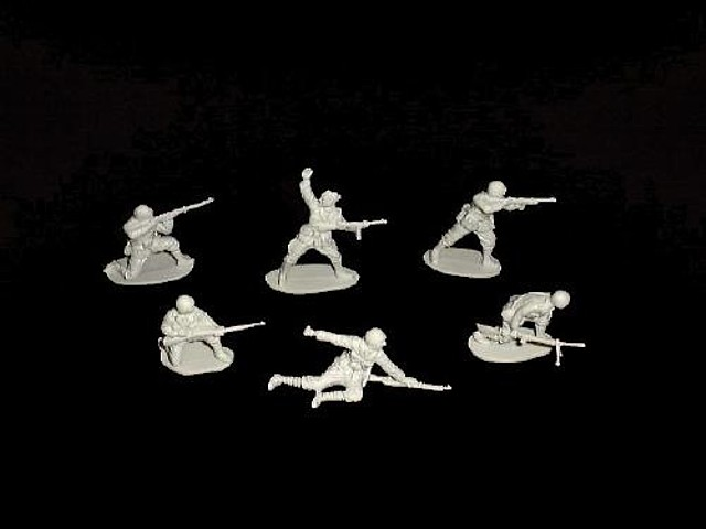Italians 12 figures in 6 poses (gray)  <font color=#CC0000>(54mm) </FONT>