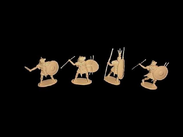 Republican Roman Velites 16 figures in 4 poses (9118)  <font color=#CC0000>(54mm) </FONT>