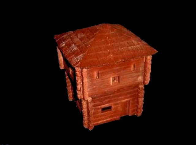 Two Story Blockhouse L10.5''x D10''x H11''   <font color=#CC0000>(54mm) </FONT>