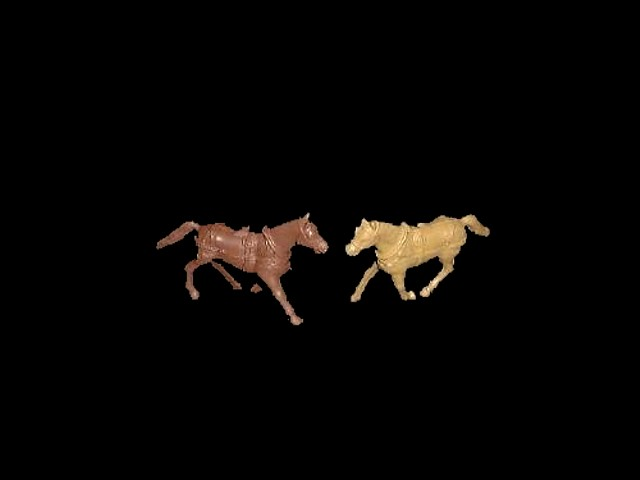 Wagon Horses 4 in 2 poses (mixed colors)  <font color=#CC0000>(54mm) </FONT>