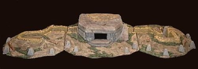 D-Day Bunker System L53''x D14''x H7'' (painted)  <font color=#CC0000>(54mm) </FONT>