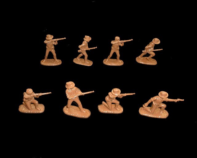 US Army (1900 Chinese Boxer Rebellion)  16 figures in 8 poses (tan) (5509) <FONT COLOR=#CC0000>(54mm) </FONT>