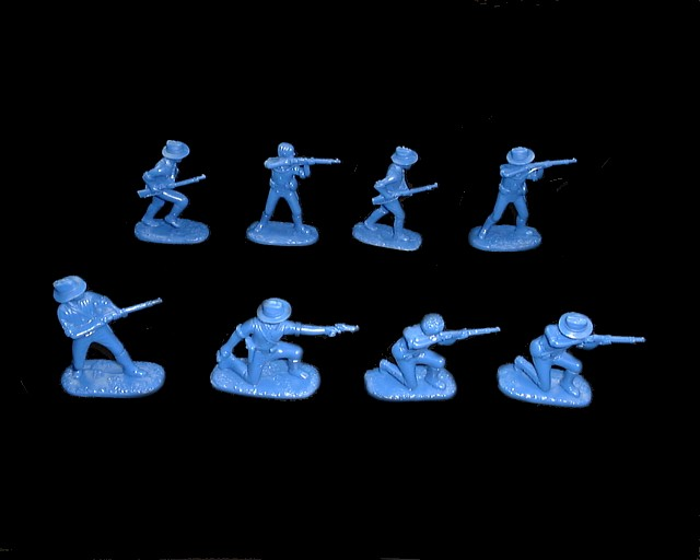 US Marines (1900 Chinese Boxer Rebellion)  16 figures in 8 poses (blue) (5508) <FONT COLOR=#CC0000>(54mm) </FONT>