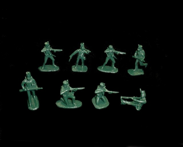 British 95th  Infantry Rifles ''Green Jackets''  16 figures in 8 poses (green) (5503) <FONT COLOR=#CC0000>(54mm) </FONT>