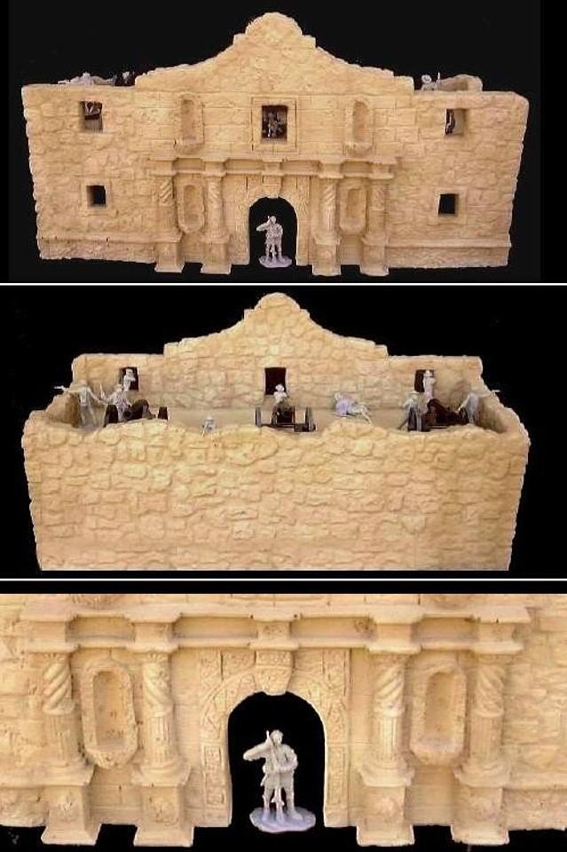 Alamo Chapel (20''L x 8''W x 10.5''H)  <font color=#CC0000>(54mm) </FONT>