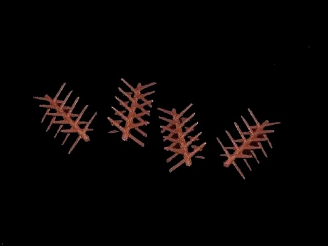 Chevaux de Frise (spiked log barricade) 4 in 1 pose <font color=#CC0000>(54mm) </FONT>