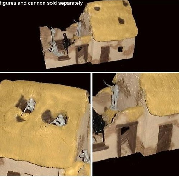 Alamo Adobe Building w/thatch roof 12