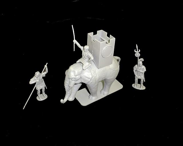 Carthaginian War Elephant w/3 figures (9023) <FONT COLOR=#CC0000>(54mm) </FONT>