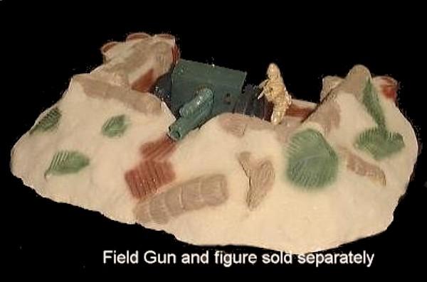 Japanese Artillery Position (painted)  (9''L x 6''W x 2''H) <FONT COLOR=#CC0000>(54mm) </FONT>