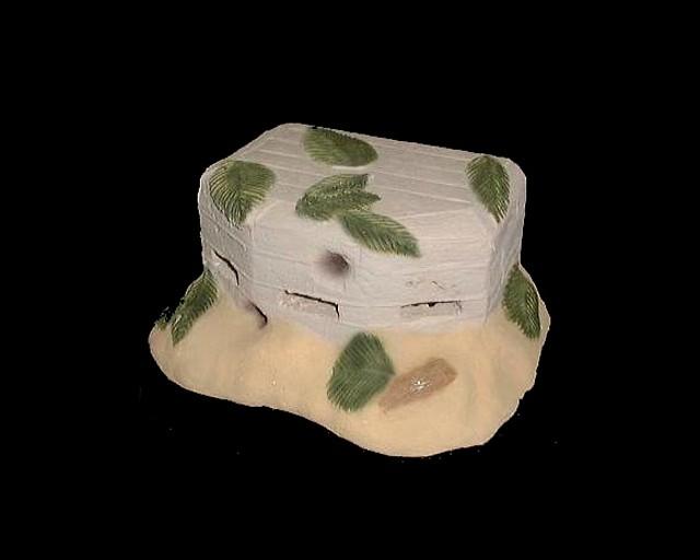 Japanese Concrete Pill Box (painted) (7''L x 5''W x 3''H)<FONT COLOR=#CC0000>(54mm) </FONT>
