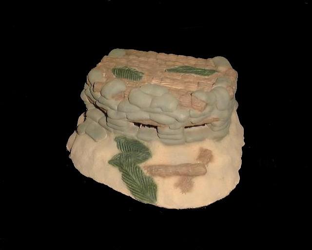 Japanese Sand Bag  Pill Box (painted) (7''L x 5''W x 3''H)<FONT COLOR=#CC0000>(54mm) </FONT>