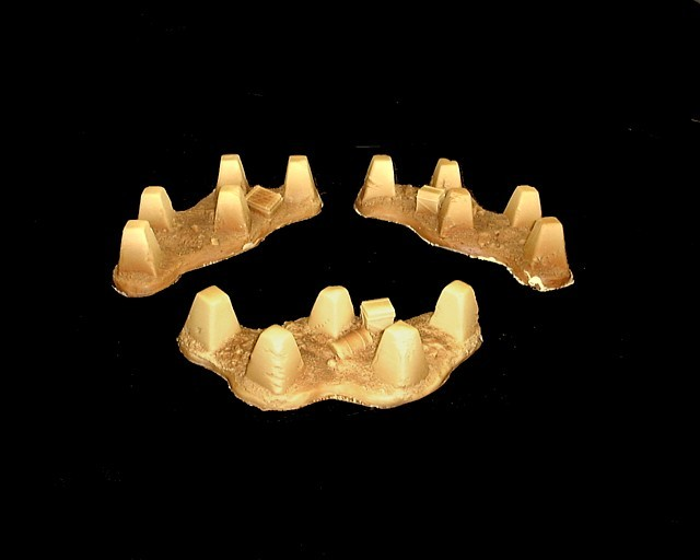 Dragons Teeth (tank trap) 3-pieces (unpainted) <font color=#CC0000>(54mm) </FONT>