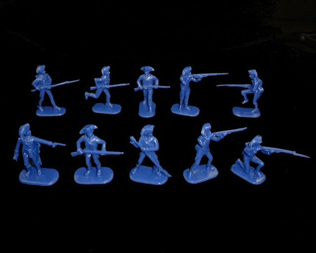Colonial Infantry 20 figures in 10 poses (blue) (5464) <font color=#CC0000>(54mm) </FONT>