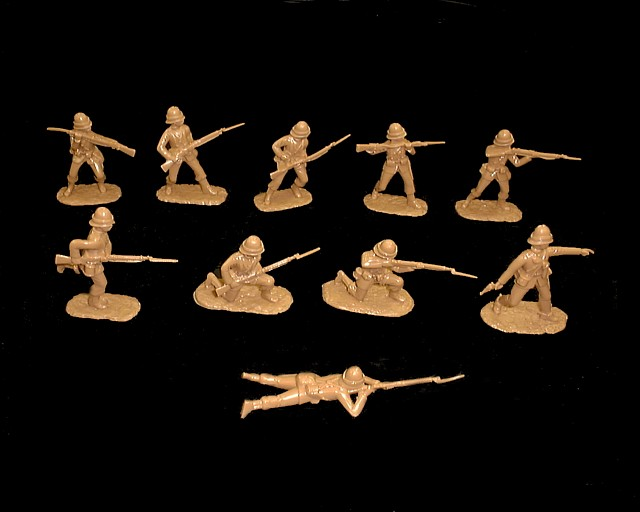 British Infantry Egyptian and Sudan  Campaigns 20 figures in 10 poses (tan) (5447)<font color=#CC0000>(54mm) </FONT>