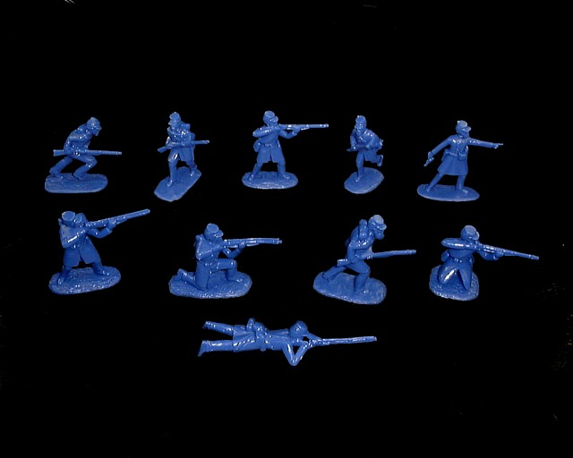 Union Infantry  20 figures in 10 poses (blue) (5459) <font color=#CC0000>(54mm) </FONT>