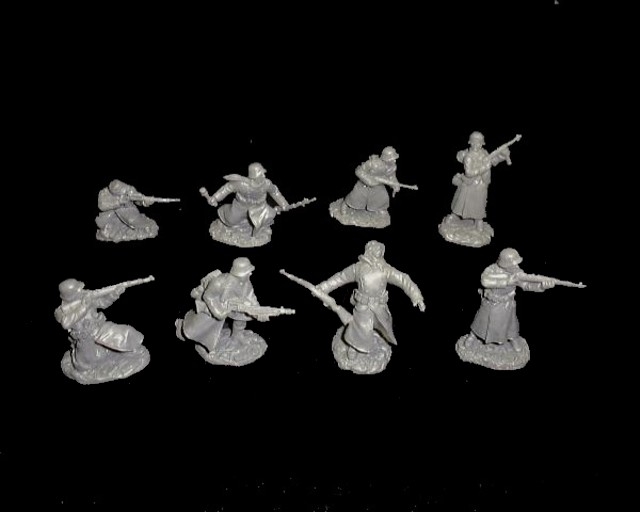 Germans 16 figures in 8 poses (gray) <font color=#CC0000>(54mm) </FONT>