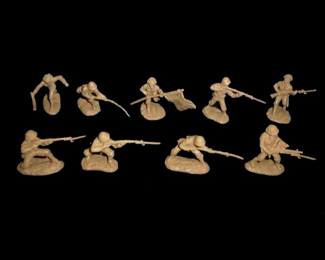 Japanese Infantry 16 figures in 9 poses (tan) <FONT COLOR=#CC0000>(54mm) </FONT>