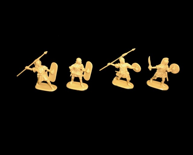 Punic War Spanish Infantry 16 figures in 4 poses (9019) <FONT COLOR=#CC0000>(54mm) </FONT>