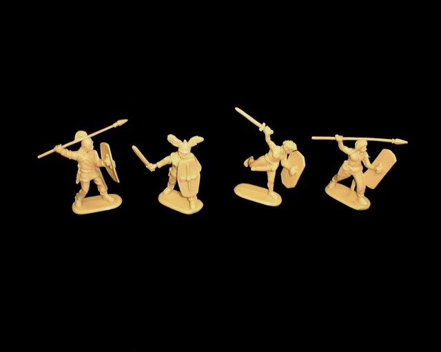 Gallic Warband 16 figures in 4 poses (9089) <FONT COLOR=#CC0000>(54mm) </FONT>