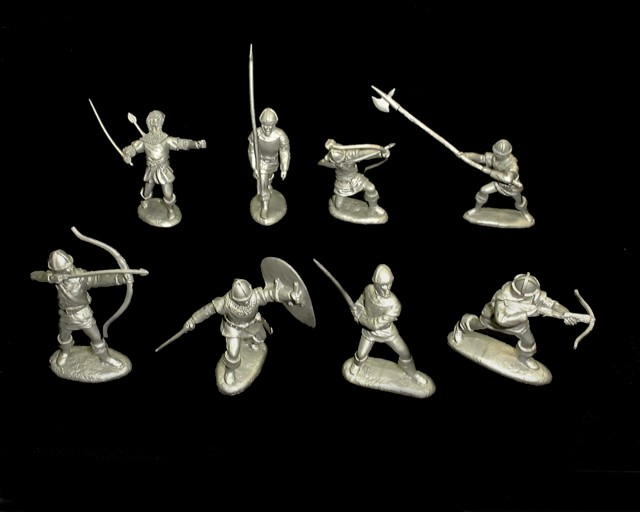 BAR100A Barzso Robin Hood - Sheriff's Men 16 in 8 poses (60MM)