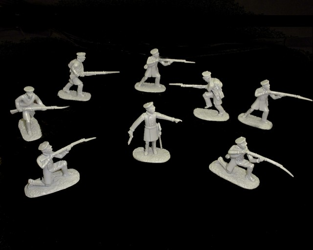Prussian Infantry  20 figures in 8 poses (gray) (5522) <FONT COLOR=#CC0000>(54mm) </FONT>