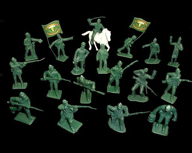 Union Irish Brigade 48 figures in 18 poses w/horse (green) <FONT COLOR=#CC0000>(54mm) </FONT>