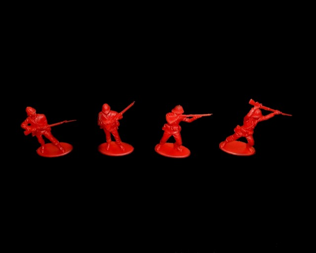British 24th Foot at Rorke�s Drift 20 figures in 4 poses (red) (series 7) <FONT COLOR=#CC0000>(54mm) </FONT>