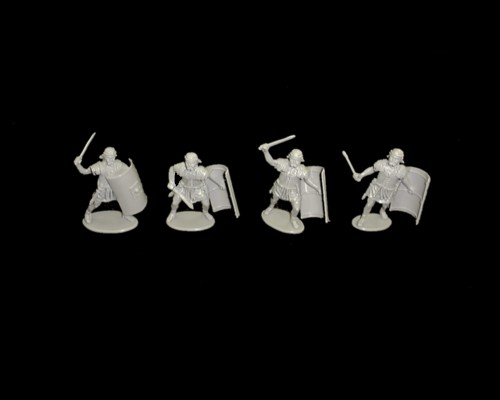 Romans 16 figures in 4 poses (gray) (series 29) <font color=#CC0000>(54mm) </FONT>