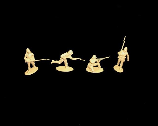 British 24th Foot at Isandlwana 16 figures in 4 poses  (tan)  (series 15) <font color=#CC0000>(54mm) </FONT>