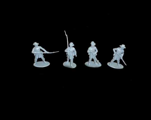 Union Iron Brigade 16 figures in 4 pose (blue) (series 18) <font color=#CC0000>(54mm) </FONT>