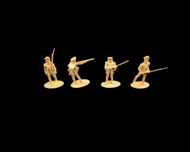 British Grenadiers 16 figures in 4 poses (tan)  (series 8) <font color=#CC0000>(54mm) </FONT>