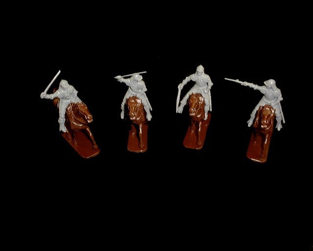 Hasleriggers Lobster Cavalry 4 figures in 4 poses w/4 horses (series 34) <FONT COLOR=#CC0000>(54mm) </FONT>