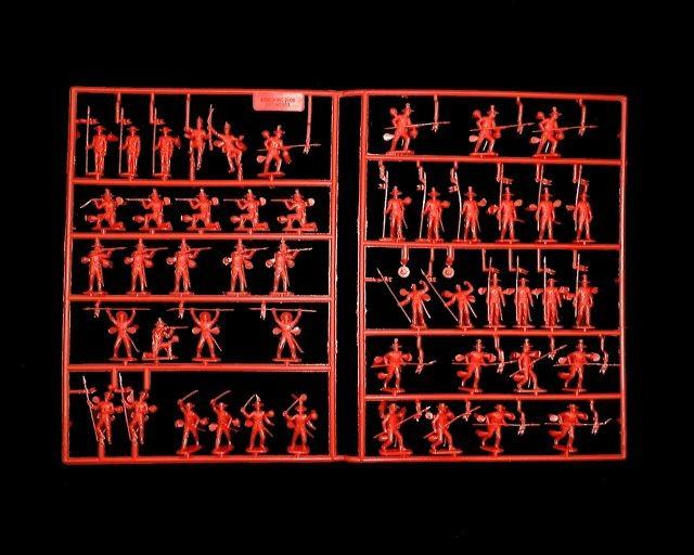 Mexican Round Hat Infantry -- 48 pieces (553) <FONT COLOR=#CC0000>(25mm) </FONT>
