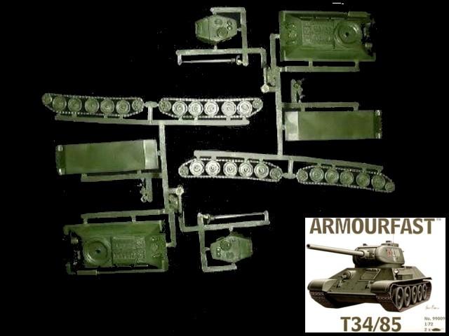 Russian T-34/85 tank (x2) (99009) <font color=#CC0000>(25mm) </FONT>