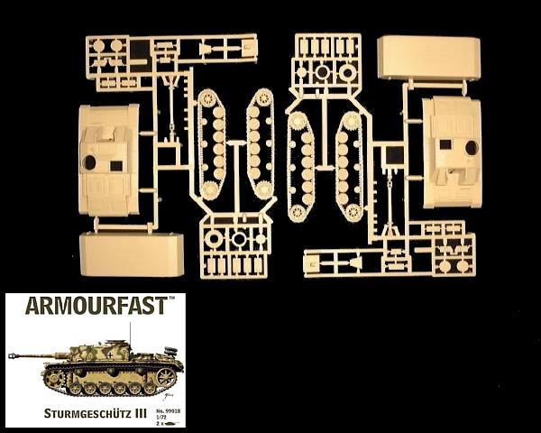 German Strumgeschutz III (x2 ) (99018) <FONT COLOR=#CC0000>(25mm) </FONT>