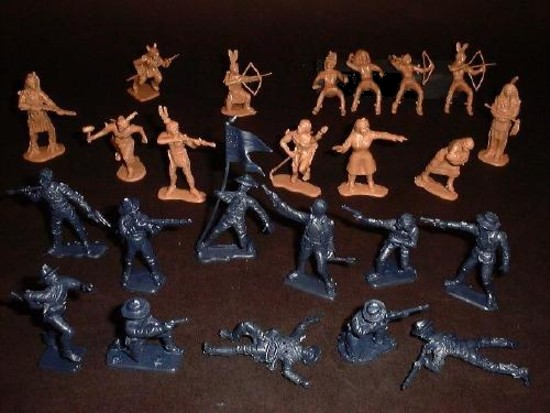 Little Big Horn Cavalry and Indians (50 pieces)   <font color=#CC0000>(54mm) </FONT>