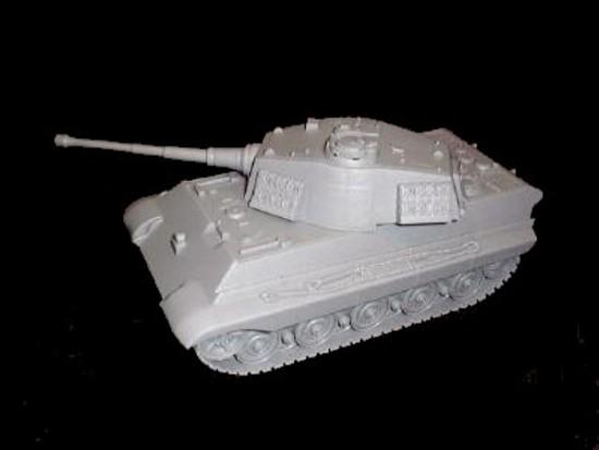 German King Tiger Tank (gray)  <font color=#CC0000>(54mm) </FONT>