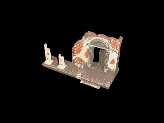 Destroyed South Mansion (factory painted)  <font color=#CC0000>(54mm) </FONT>