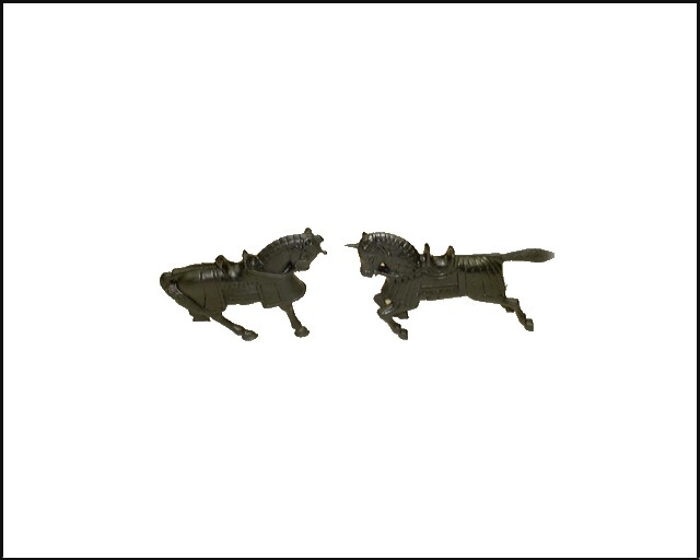 Knight Horses 6 in 2 poses (black) <FONT COLOR=#CC0000>(54mm) </FONT>
