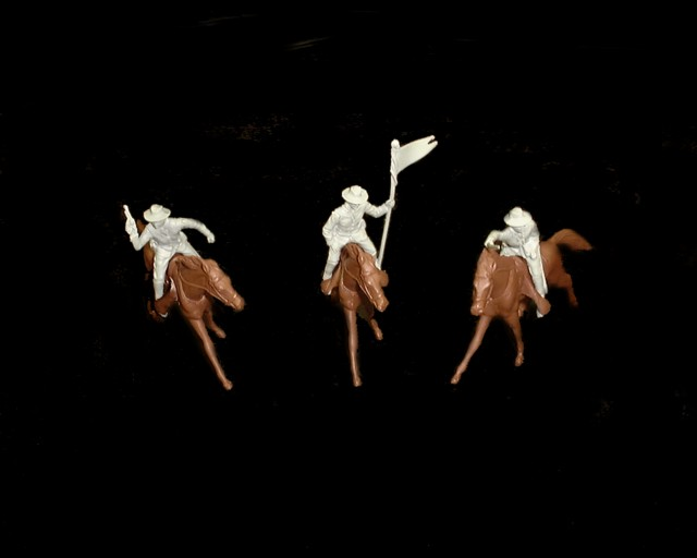 Long Coat Cavalry 6 mounted figures in 3 poses (gray) w/6 horses <FONT COLOR=#CC0000>(54mm) </FONT>