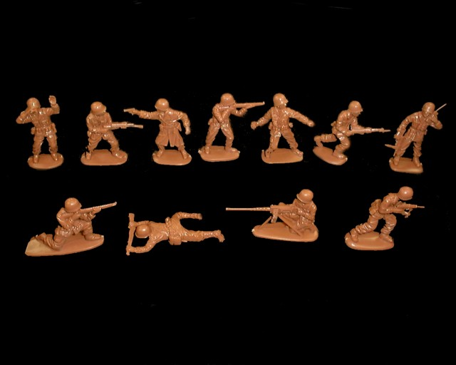 GI's 15 figures in 11 poses (brown)  <font color=#CC0000>(54mm) </FONT>