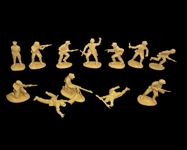 Afrika Korps 15 figures 12 poses (tan)  <font color=#CC0000>(54mm) </FONT>