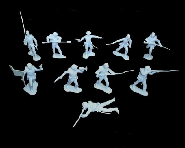 Union Infantry  22 figures in 10 poses (light blue)   <font color=#CC0000>(54mm) </FONT>