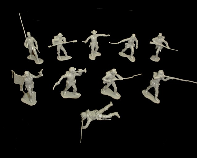 Union Infantry  22 figures in 10 poses (gray)   <font color=#CC0000>(54mm) </FONT>